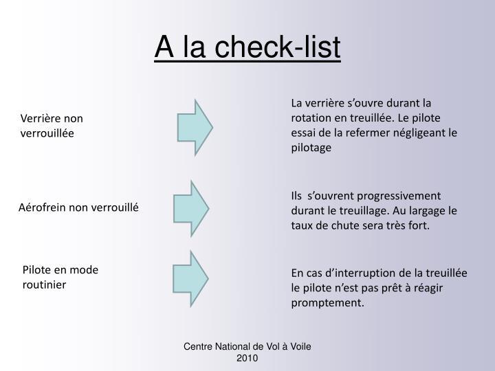 A la check-list