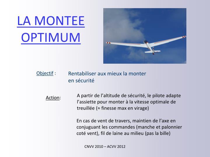 LA MONTEE OPTIMUM