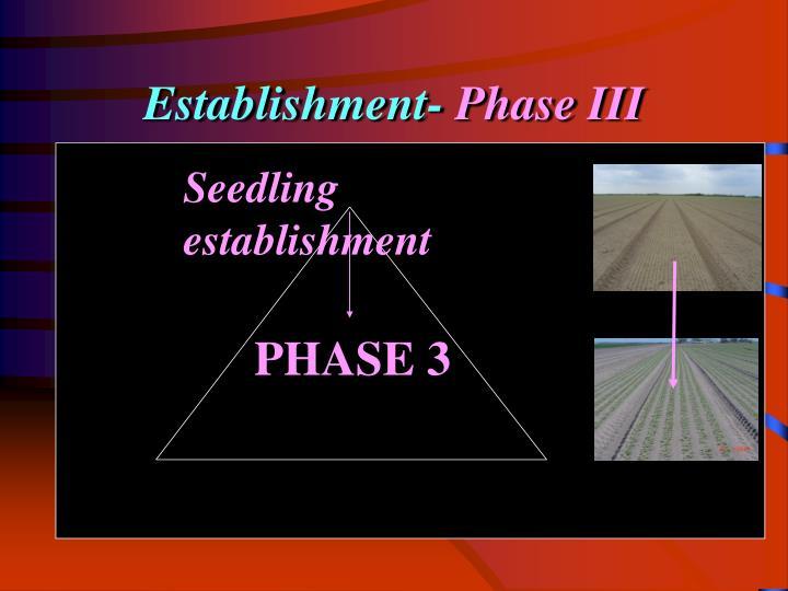 Establishment-