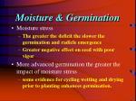 moisture germination