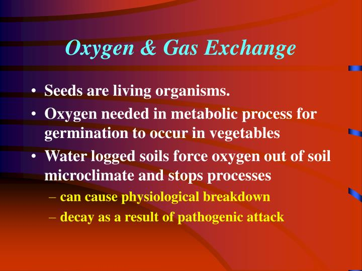 Oxygen & Gas Exchange