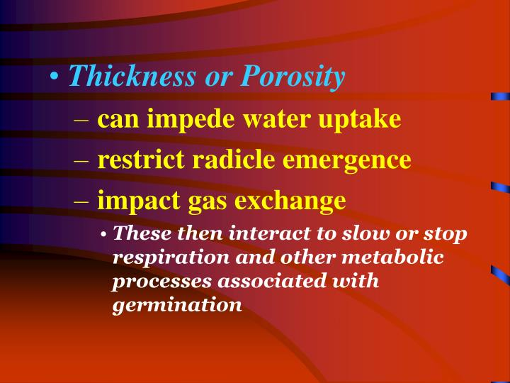 Thickness or Porosity
