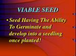 viable seed