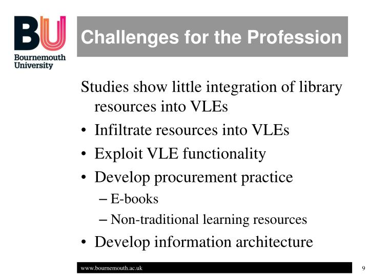 Challenges for the Profession