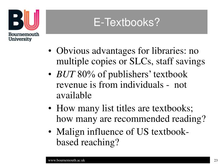 E-Textbooks?