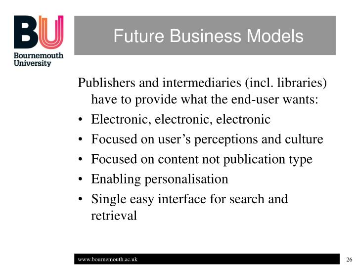 Future Business Models