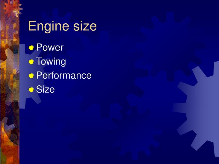Engine size