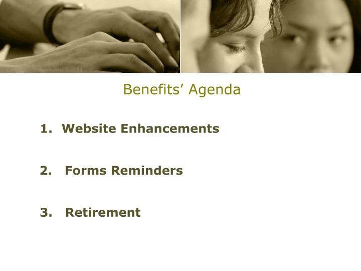 Benefits' Agenda