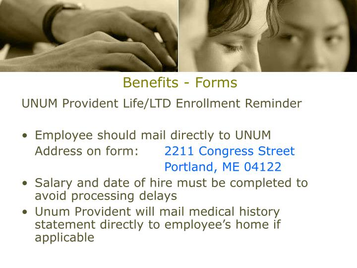 Benefits - Forms