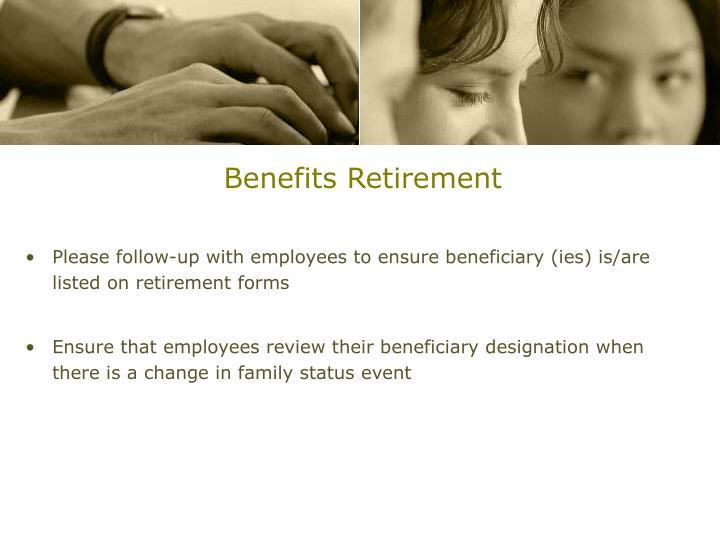 Benefits Retirement