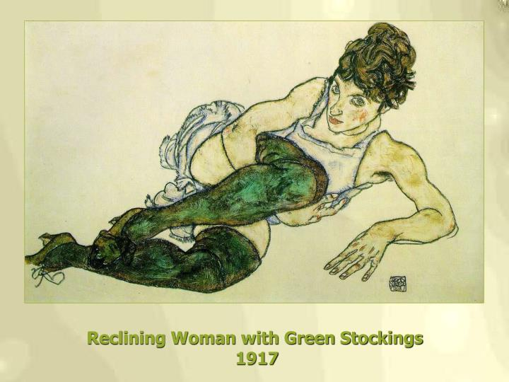 Reclining Woman with Green Stockings