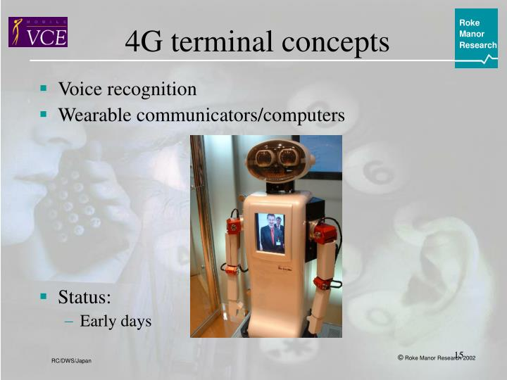 4G terminal concepts