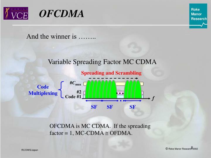Variable Spreading Factor MC CDMA