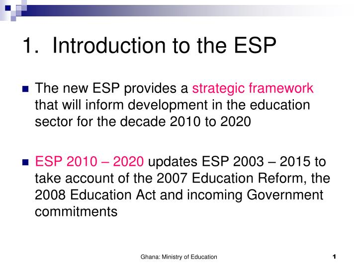 1 introduction to the esp