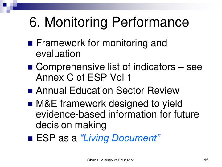 6. Monitoring Performance