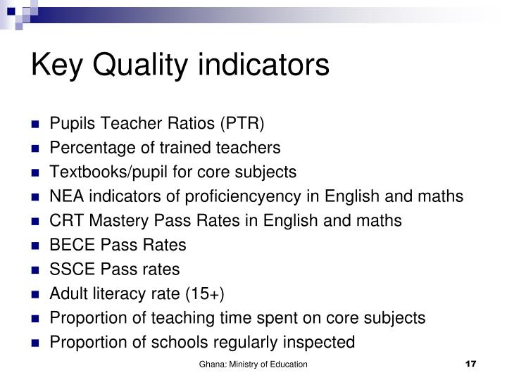 Key Quality indicators
