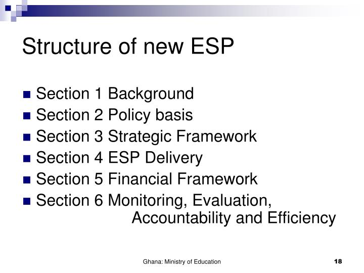 Structure of new ESP
