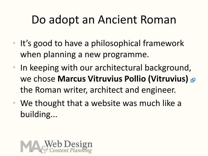 Do adopt an Ancient Roman