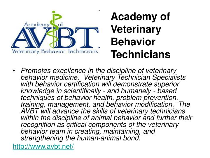 Academy of Veterinary Behavior Technicians