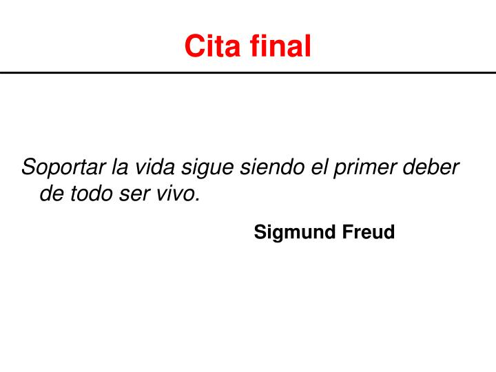 Cita final