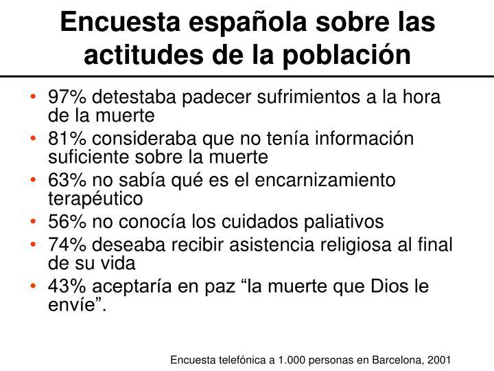 Encuesta española sobre las actitudes de la población