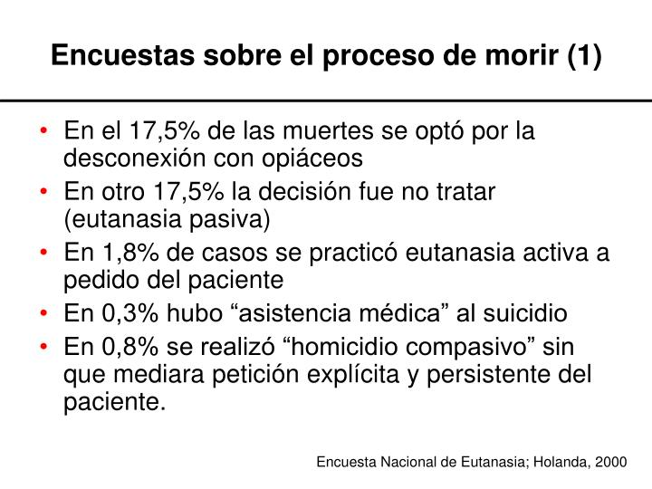 Encuestas sobre el proceso de morir (1)