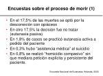 encuestas sobre el proceso de morir 1