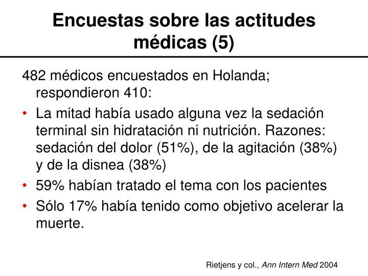 Encuestas sobre las actitudes médicas (5)