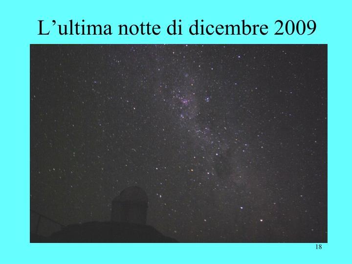 L'ultima notte di dicembre 2009
