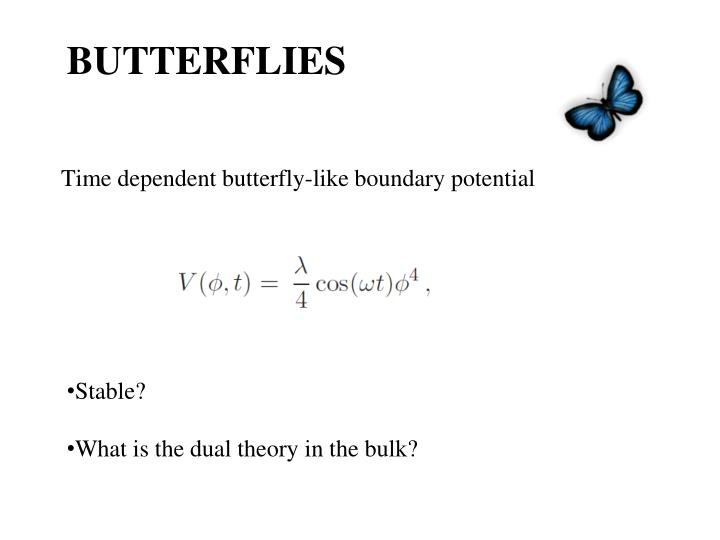Time dependent butterfly-like boundary potential