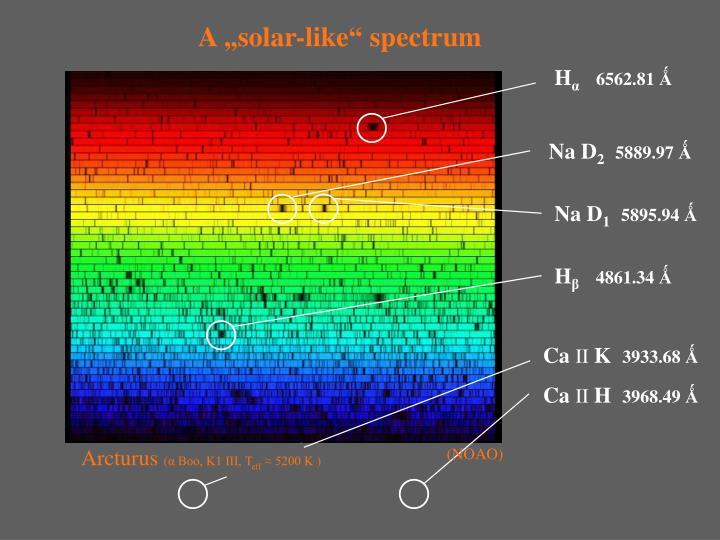 "A ""solar-like"" spectrum"