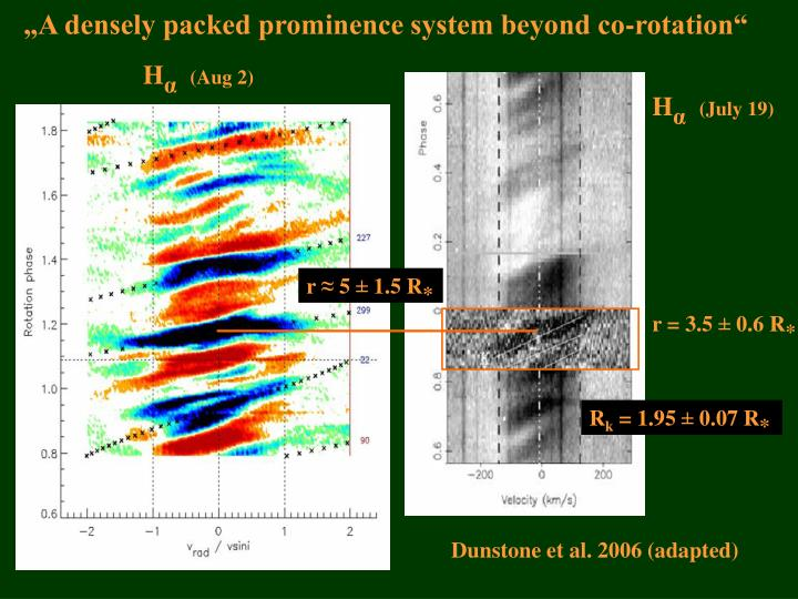 """A densely packed prominence system beyond co-rotation"""