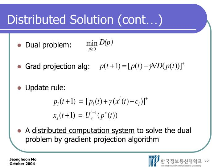 Distributed Solution (cont