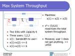 max system throughput