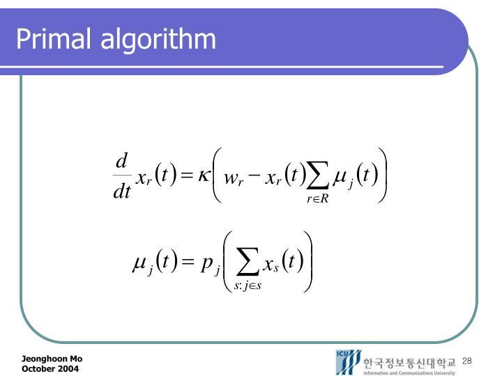 Primal algorithm