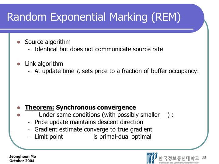 Random Exponential Marking (REM)