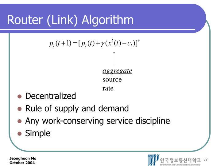 Router (Link) Algorithm
