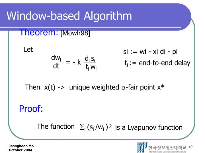 Window-based Algorithm