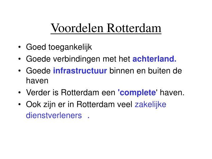 Voordelen Rotterdam