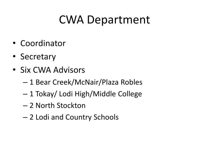 CWA Department