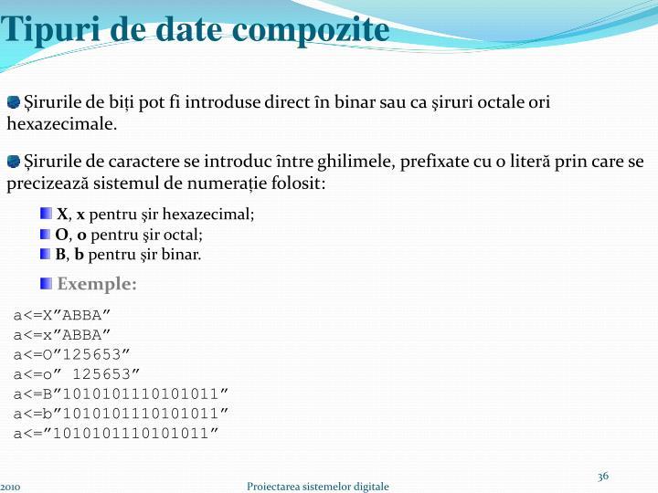 Tipuri de date compozite