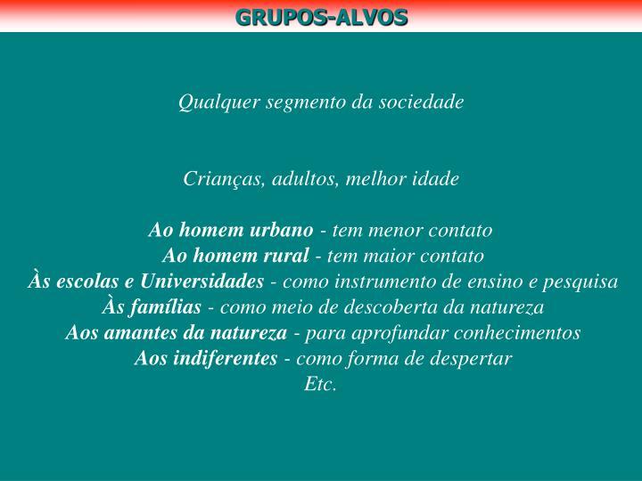 GRUPOS-ALVOS