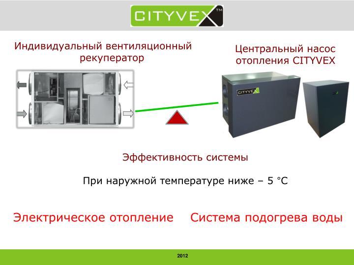 Индивидуальный вентиляционный рекуператор
