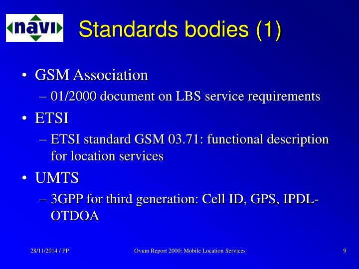 Standards bodies (1)