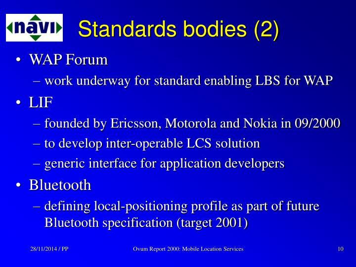 Standards bodies (2)