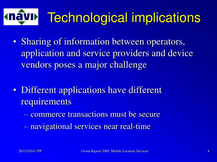 Technological implications