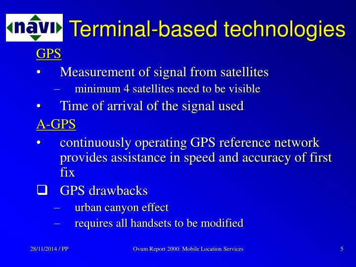 Terminal-based technologies