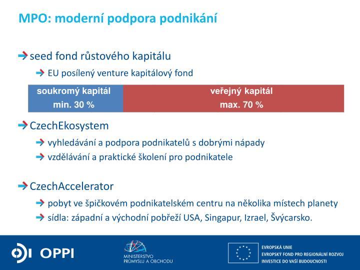 MPO: moderní podpora podnikání