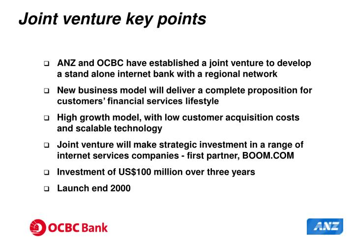 Joint venture key points