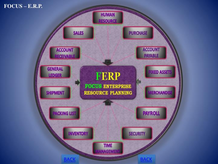 FOCUS – E.R.P.